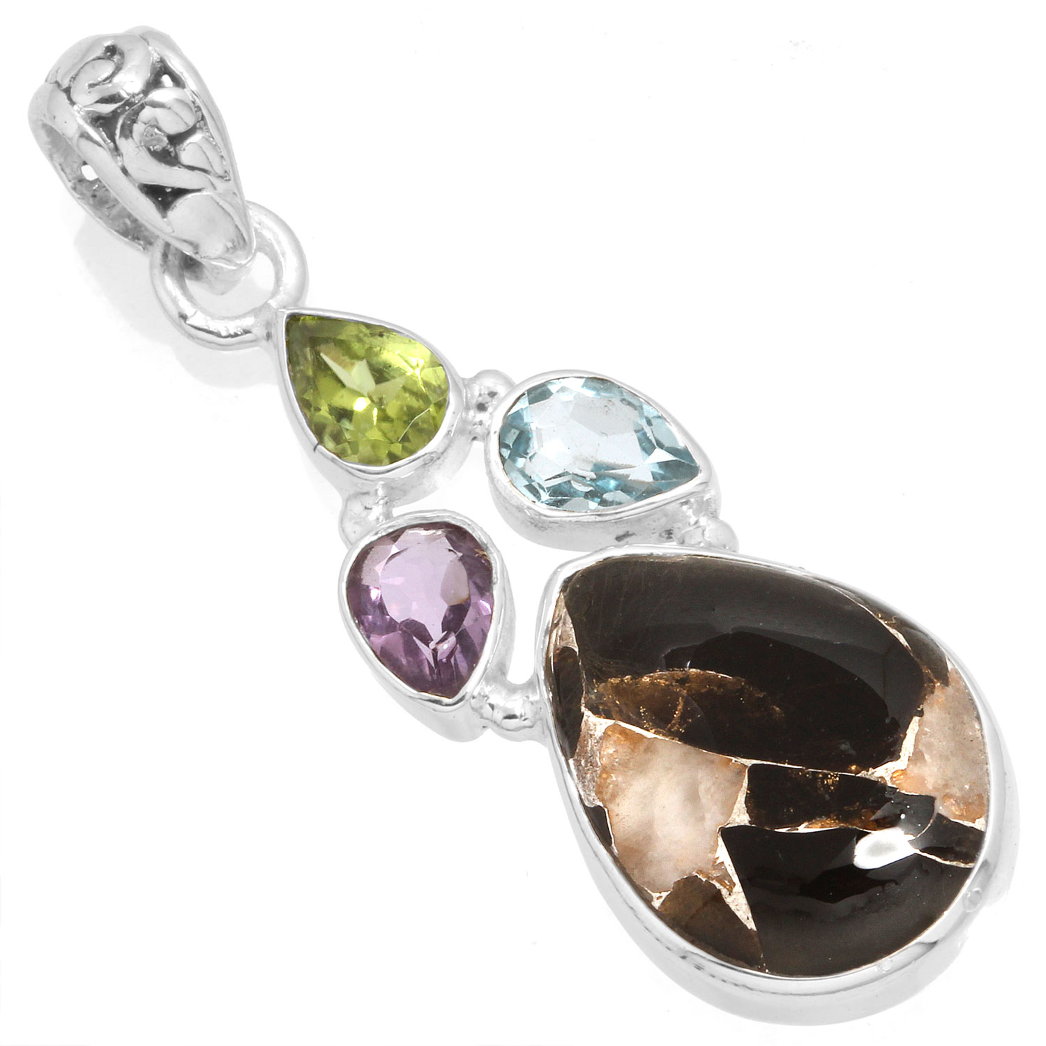 wholesale Sterling Silver Gemstone Ring (12255)