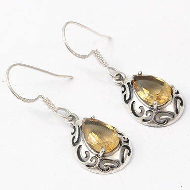 wholesale Wholesale Sterling Silver Gemstone Earring (E007CT)