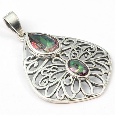 wholesale Wholesale Sterling Silver Gemstone Pendant (P026MQ)