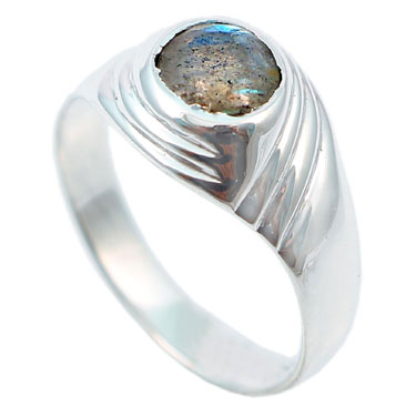 wholesale Wholesale Sterling Silver Gemstone Ring (R002LB_7)