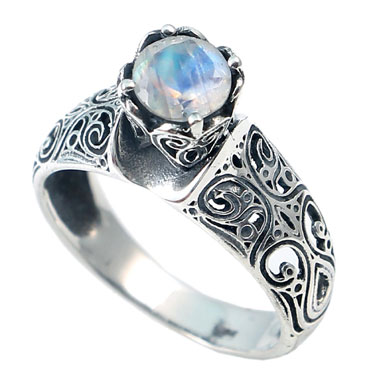wholesale Wholesale Sterling Silver Gemstone Ring (R028RB_6)