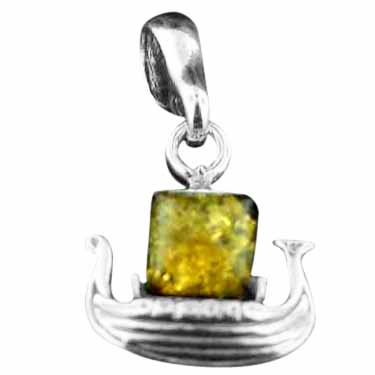 Baltic Amber Sterling Silver Jewelry (amb_charm_ark)