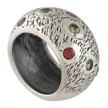 wholesale Sterling Silver Gemstone Ring (ecrg0203_8)