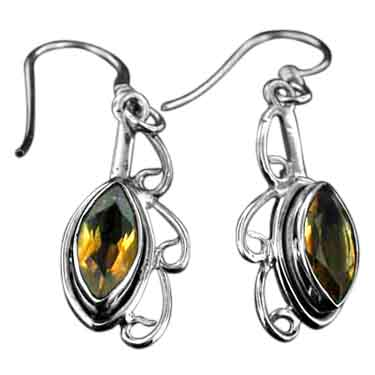 wholesale Sterling Silver Gemstone Earrings (ee115ctf)