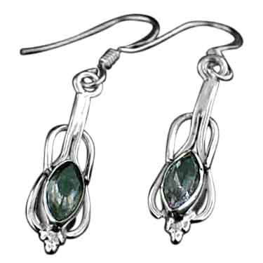 wholesale Sterling Silver Gemstone Earrings   (ee233amef)