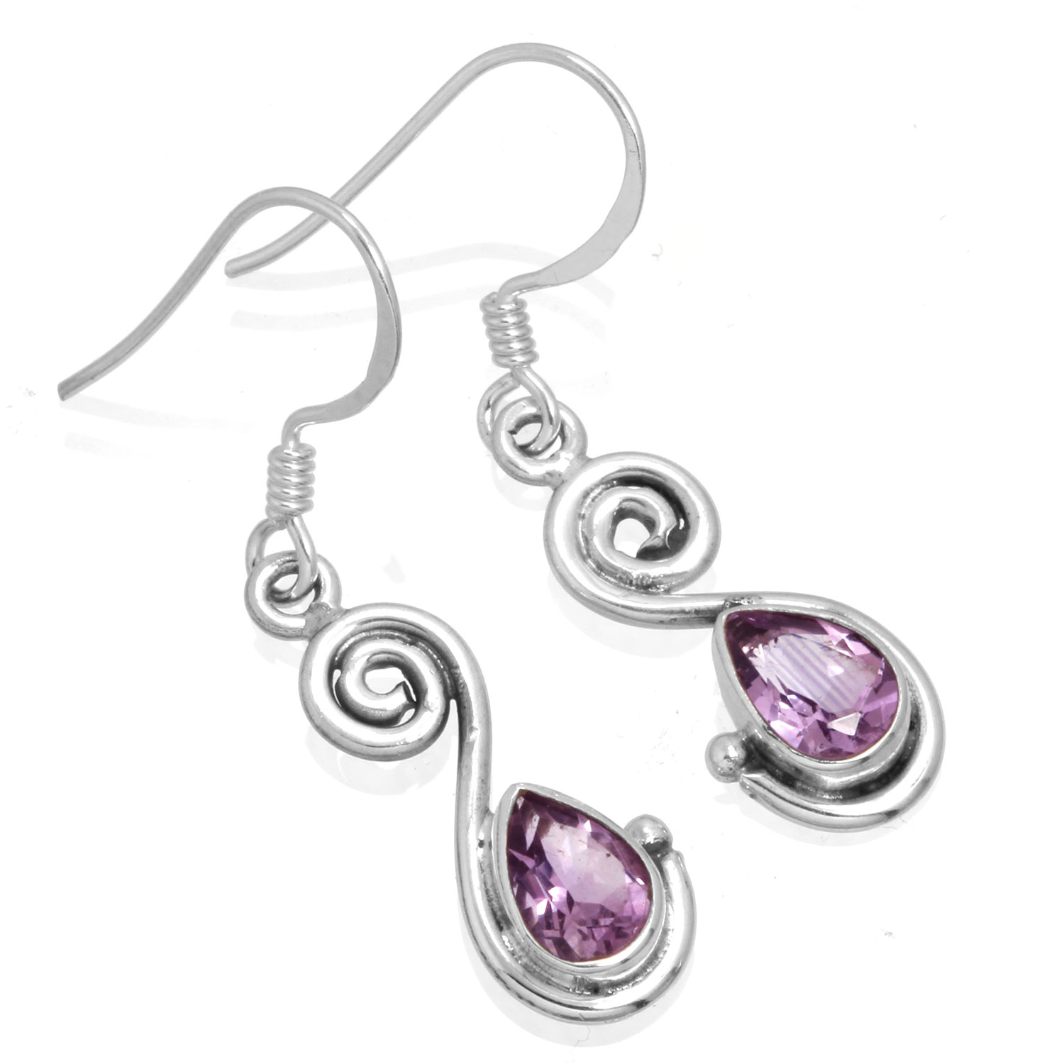 wholesale Wholesale Sterling Silver Gemstone Earrings (ee519amef)