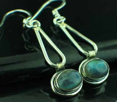 wholesale Sterling Silver Gemstone Earrings (ee601lb)