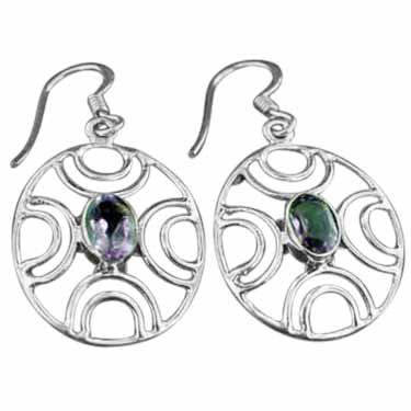wholesale Sterling Silver Gemstone Earrings (ee617amef)