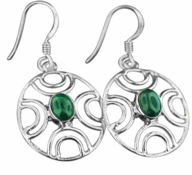 Sterling Silver Gemstone Earrings (ee617ml)