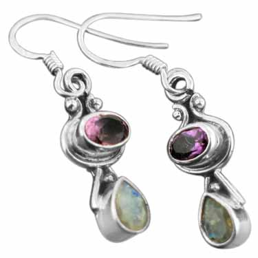wholesale Sterling Silver Gemstone Earrings (ee628amef_rm)