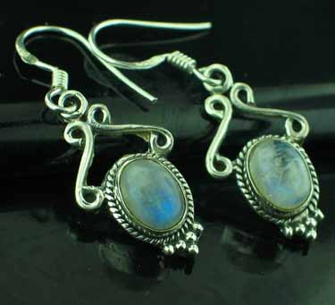 Sterling Silver Gemstone Earrings (ee645rm)