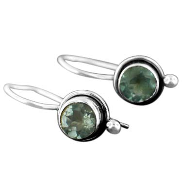 wholesale Sterling Silver Gemstone Earrings (ee64btpf)