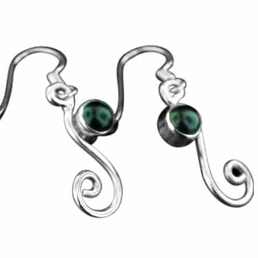 wholesale Sterling Silver Gemstone Earrings (ee654bx)