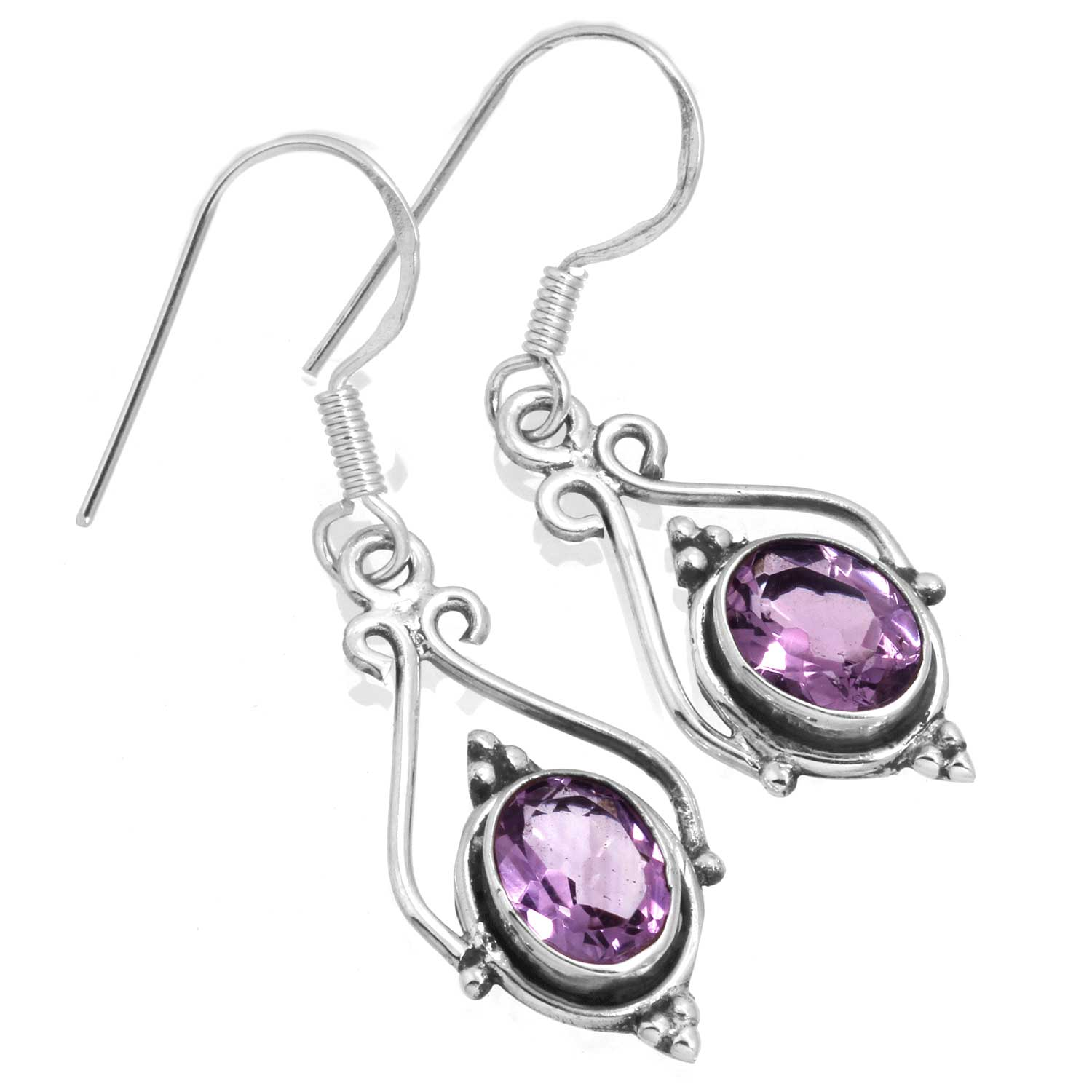 wholesale Sterling Silver Gemstone Earrings (ee661amef)