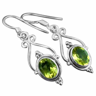 wholesale Sterling Silver Gemstone Earrings (ee661ctf)