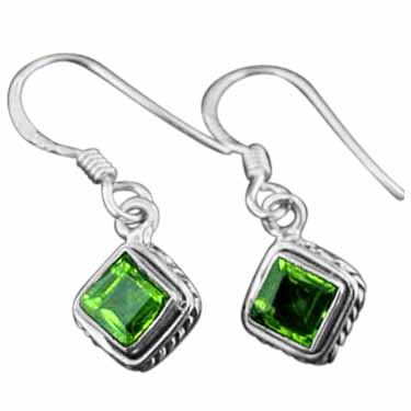 wholesale Sterling Silver Gemstone Earrings (ee669prf)