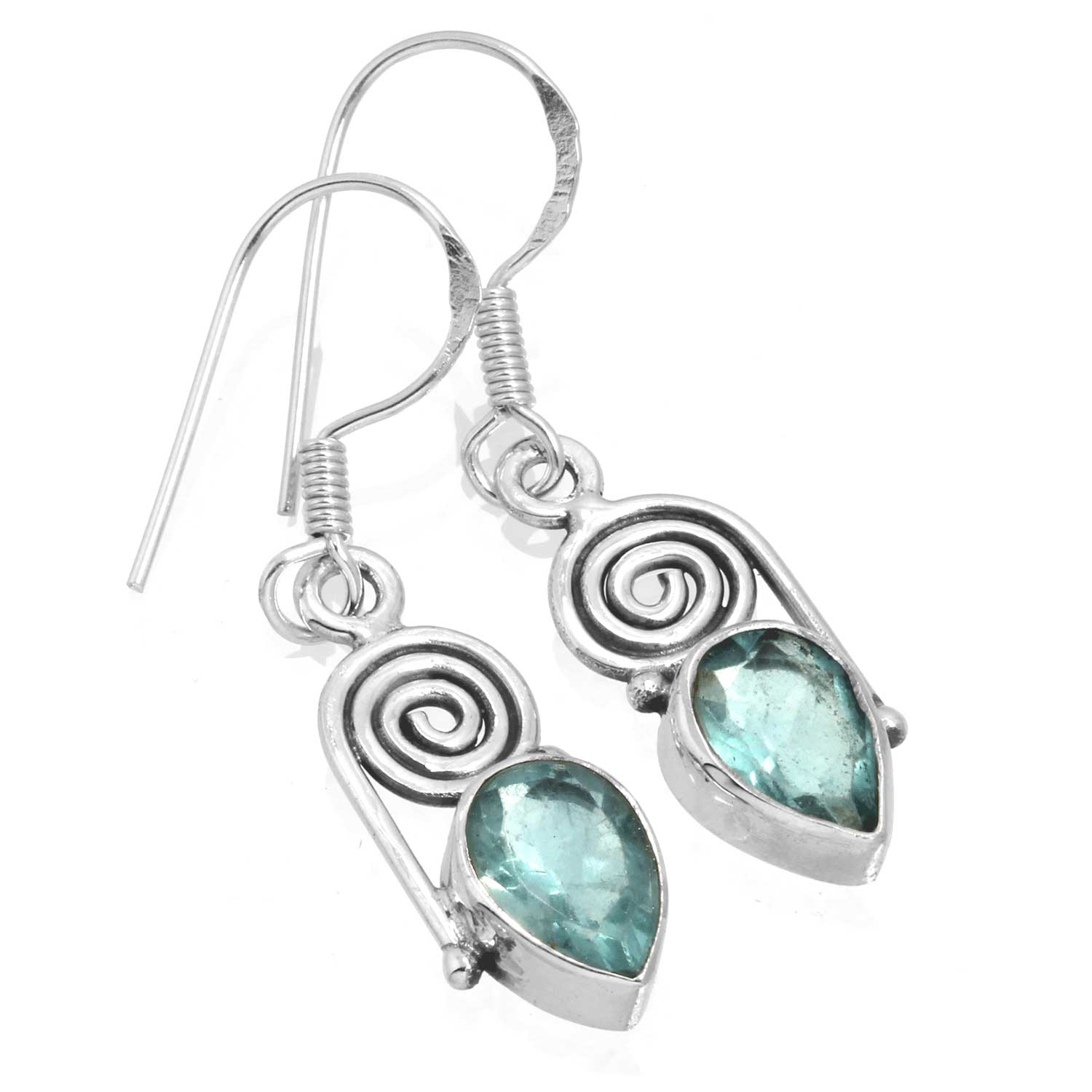 wholesale Sterling Silver Gemstone Earrings (ee700flf)