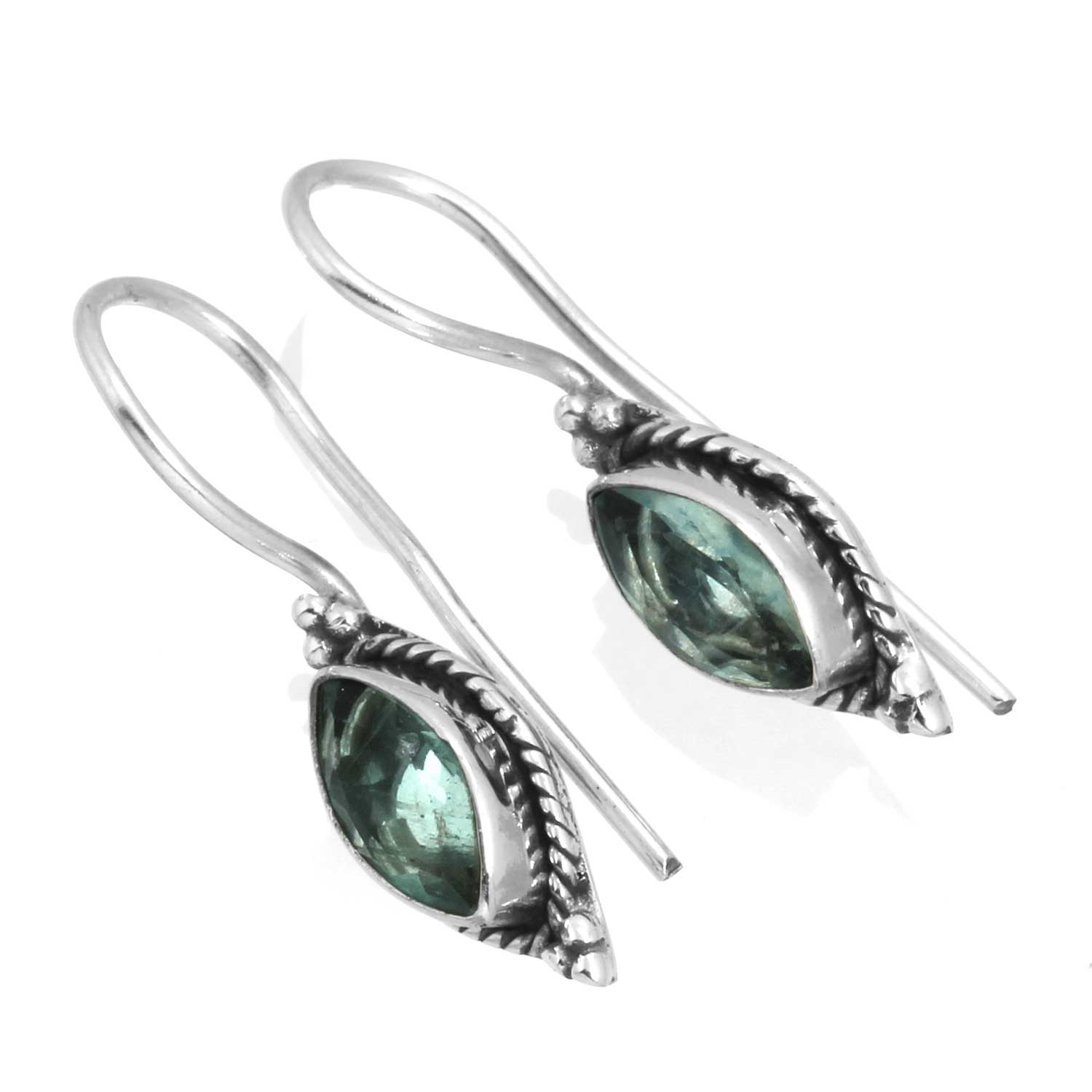 wholesale Sterling Silver Gemstone Earrings (ee701flf)