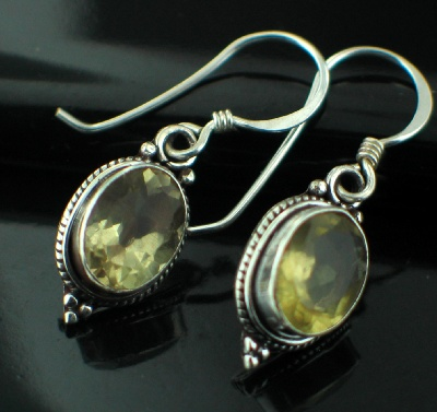 wholesale Sterling Silver Gemstone Earrings (es202lq)