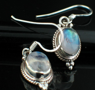 wholesale Sterling Silver Gemstone Earrings (es202rm)