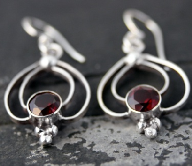 wholesale Silver Gemstone Earrings (es204grf)