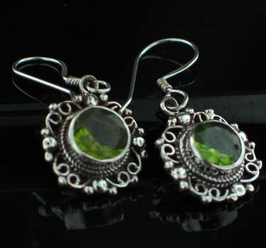 Sterling Silver Gemstone Earrings (es220prf)