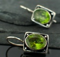 wholesale Sterling Silver Gemstone Earrings (es243prf)
