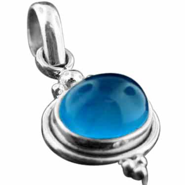 wholesale Sterling Silver Gemstone Pendant (pn04bl)