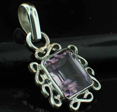 wholesale Sterling Silver Gemstone Pendant (pn21ame)