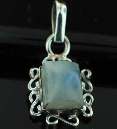 wholesale Sterling Silver Gemstone Pendant (pn21rm)