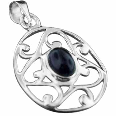 wholesale Sterling Silver Gemstone Pendant (pn343ame)