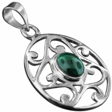 Sterling Silver Gemstone Pendant (pn343ml)