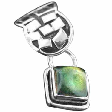 wholesale Sterling Silver Gemstone Pendant (pn442lb)