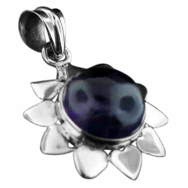 wholesale Sterling Silver Gemstone Pendant (pn726ame)