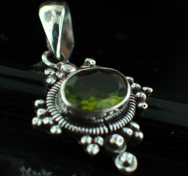 Sterling Silver Gemstone Pendant (ps307prf)