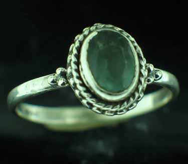 wholesale Sterling Silver Gemstone Ring (rn107bflf)