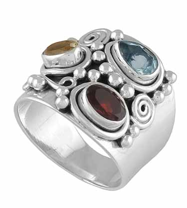 Sterling Silver Gemstone Ring (rg16mxf2)