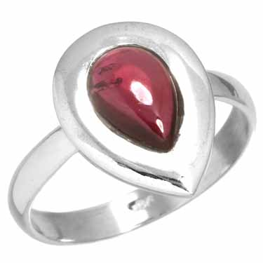 wholesale Sterling Silver Gemstone Ring (rg218gr_7)