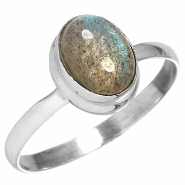 wholesale Sterling Silver Gemstone Ring (rg270lb_9)
