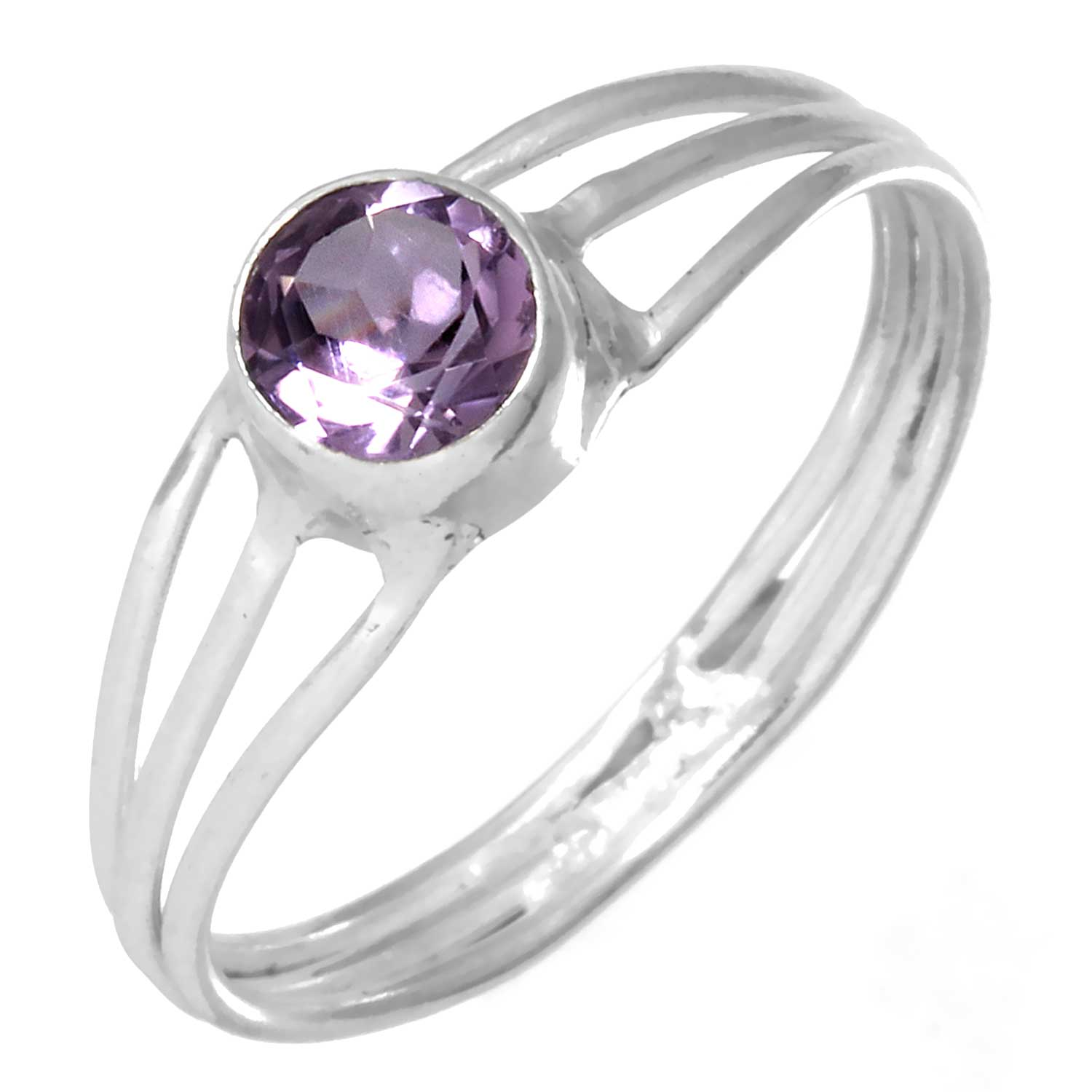 wholesale Sterling Silver Gemstone Ring (rg703amef_7)