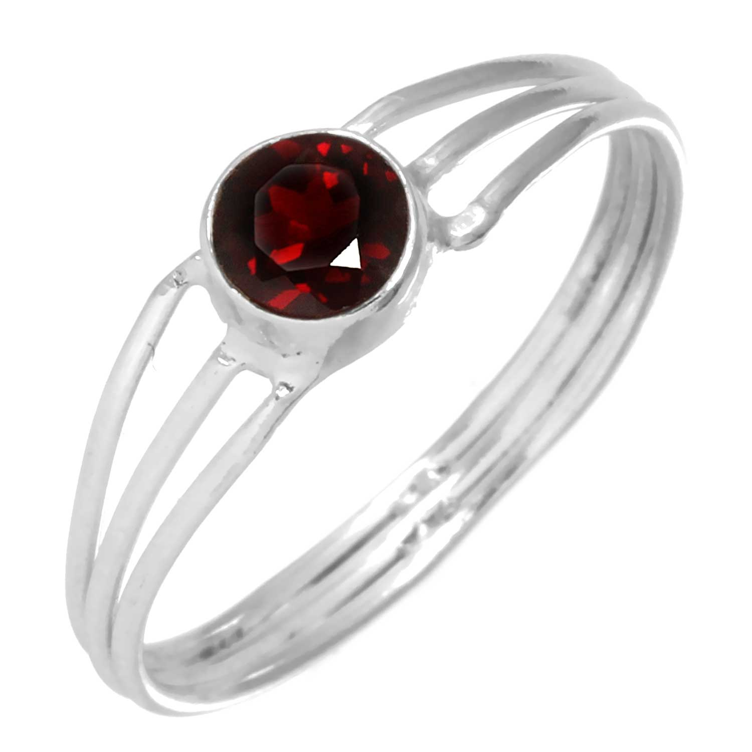 wholesale Sterling Silver Gemstone Ring (rg703grf_6)