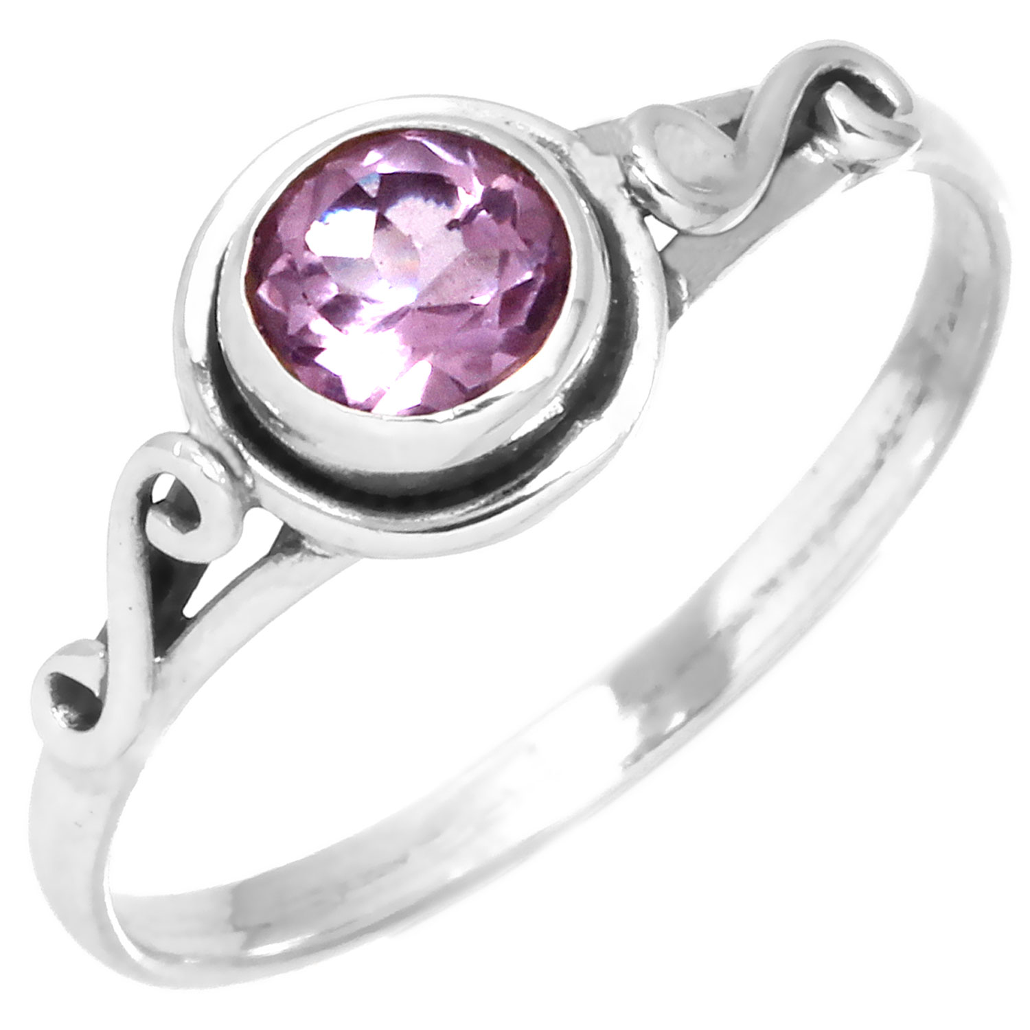 wholesale Sterling Silver Gemstone Ring (rg705amef_ov)