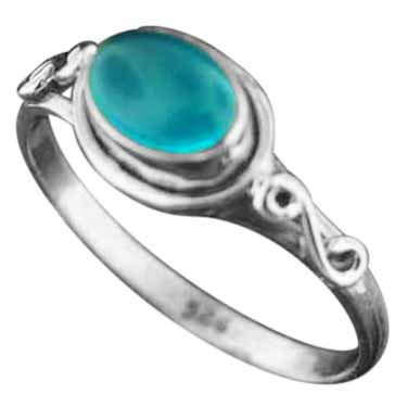 wholesale Sterling Silver Gemstone Ring (rg705bl_9)