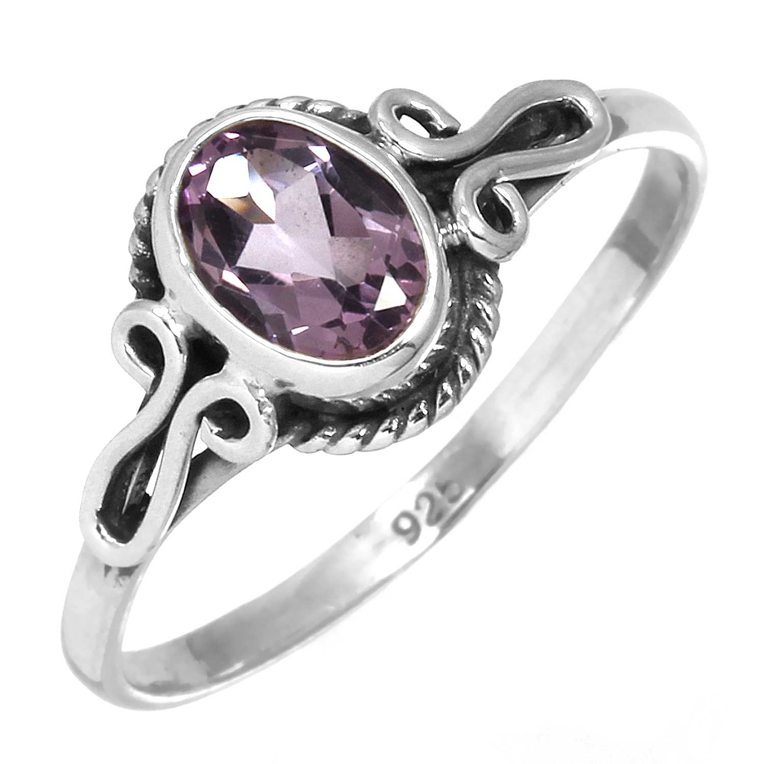 wholesale Sterling Silver Gemstone Ring (rg706amef_7)