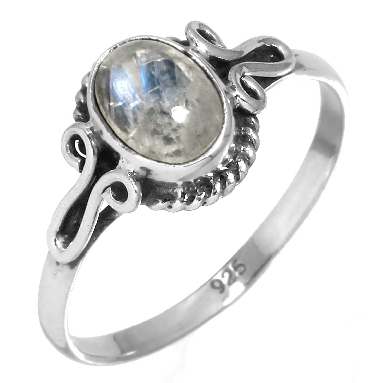wholesale Sterling Silver Gemstone Ring (rg706rm)