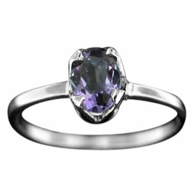 wholesale Sterling Silver Gemstone Ring (rg707bl)