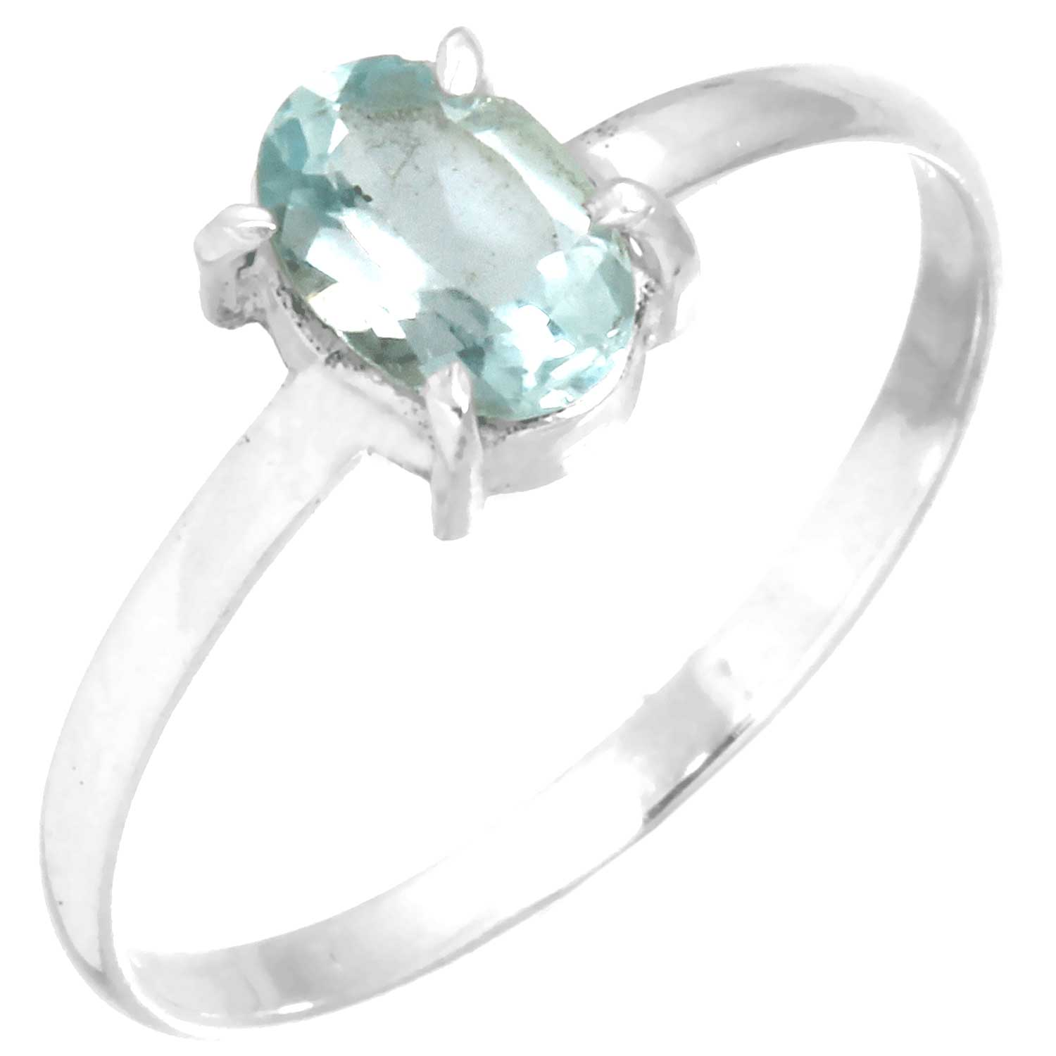 wholesale Sterling Silver Gemstone Ring (rg707flf_9)
