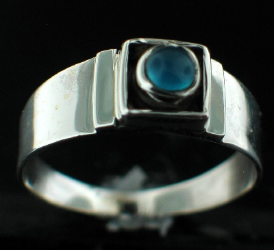 wholesale Sterling Silver Gemstone Ring (rg708bl)