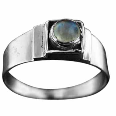 Sterling Silver Gemstone Ring (rg708rm)