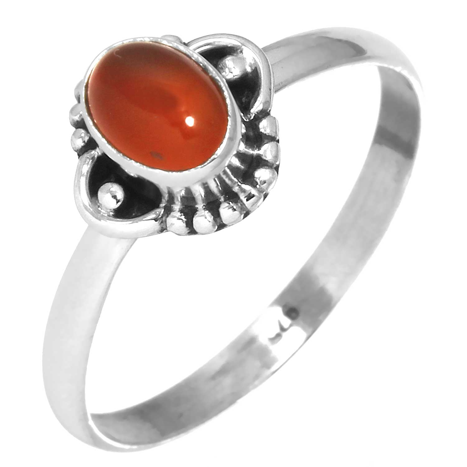 wholesale Sterling Silver Gemstone Ring (rg719car)